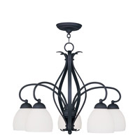Livex Lighting Brookside 5 Light Chandelier in Black 4775-04
