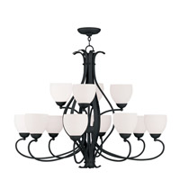 Livex Lighting Brookside 12 Light Chandelier in Black 4779-04
