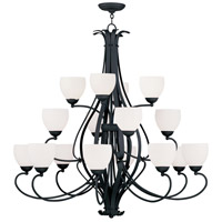Livex Lighting Brookside 16 Light Chandelier in Black 4789-04