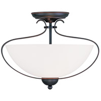 Livex Lighting Brookside 2 Light Ceiling Mount in Olde Bronze 4798-67