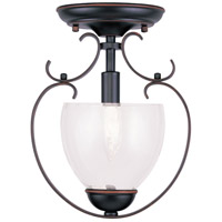 Livex Lighting Brookside 1 Light Pendant/Ceiling Mount in Olde Bronze 4800-67 alternative photo thumbnail