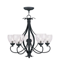 Livex 4805-04 Brookside 5 Light 26 inch Black Chandelier Ceiling Light photo thumbnail