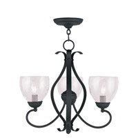 Livex Lighting Brookside 3 Light Chandelier in Black 4807-04