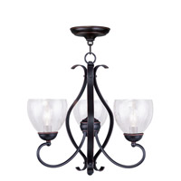 Livex Lighting Brookside 3 Light Chandelier in Olde Bronze 4807-67