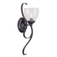 Livex Lighting Brookside 1 Light Wall Sconce in Olde Bronze 4808-67