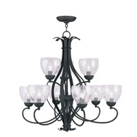 Livex Lighting Brookside 9 Light Chandelier in Black 4809-04