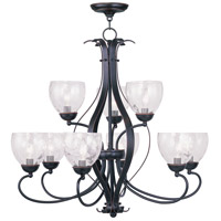 Livex Lighting Brookside 9 Light Chandelier in Olde Bronze 4809-67