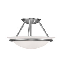 Livex 4823-91 Newburgh 2 Light 12 inch Brushed Nickel Ceiling Mount Ceiling Light