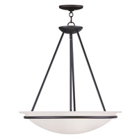 Livex Lighting Newburgh 3 Light Pendant in Black 4826-04