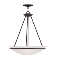 Livex Lighting Newburgh 3 Light Pendant in Bronze 4826-07