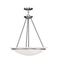 Livex Lighting Newburgh 3 Light Pendant in Brushed Nickel 4826-91