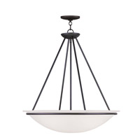 Livex Lighting Newburgh 4 Light Pendant in Black 4827-04