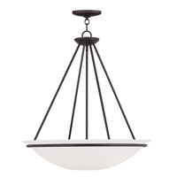 Livex Lighting Newburgh 4 Light Pendant in Bronze 4827-07