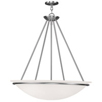 Livex Lighting Newburgh 4 Light Pendant in Brushed Nickel 4827-91