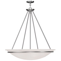 Livex Lighting Newburgh 5 Light Pendant in Brushed Nickel 4828-91