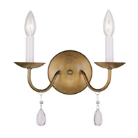 Livex Lighting Mercer 2 Light Wall Sconce in Antique Gold Leaf 4842-48