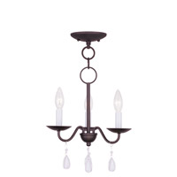 Livex Lighting Mercer 3 Light Mini Chandelier in Bronze 4843-07