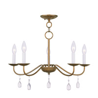 Livex 4845-48 Mercer 5 Light 24 inch Antique Gold Leaf Chandelier Ceiling Light photo thumbnail