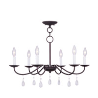 Livex Lighting Mercer 6 Light Chandelier in Bronze 4846-07