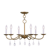 Livex Lighting Mercer 6 Light Chandelier in Antique Gold Leaf 4846-48