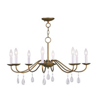 Livex Lighting Mercer 8 Light Chandelier in Antique Gold Leaf 4848-48