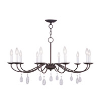 Livex Lighting Mercer 10 Light Chandelier in Bronze 4850-07