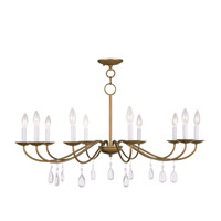 Livex Lighting Mercer 10 Light Chandelier in Antique Gold Leaf 4850-48