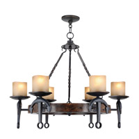 Livex Lighting Cape May 6 Light Chandelier in Olde Bronze 4866-67