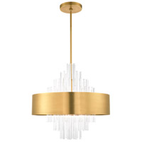 Livex 48876-08 Orenburg 10 Light 26 inch Natural Brass Pendant Chandelier Ceiling Light