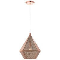 Livex 48923-86 Aberdeen 1 Light 14 inch Rose Gold Pendant Ceiling Light