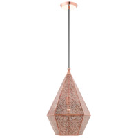 Livex 48924-86 Aberdeen 1 Light 15 inch Rose Gold Pendant Ceiling Light