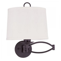 Livex 4903-07 Signature 25 inch 100 watt Bronze Swing Arm Wall Lamp Wall Light