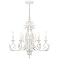 Livex Lighting 49065-69 Valencia 5 Light 25 inch Shiny White Chandelier Ceiling Light