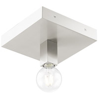 Livex 49210-91 Solna 1 Light 9 inch Brushed Nickel Flush Mount Ceiling Light alternative photo thumbnail