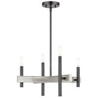Livex 49344-46 Denmark 4 Light 20 inch Black Chrome Chandelier Ceiling Light
