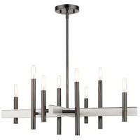 Livex 49348-46 Denmark 8 Light 28 inch Black Chrome Chandelier Ceiling Light