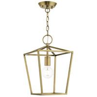 Livex 49432-01 Devonshire 1 Light 10 inch Antique Brass Convertible Semi Flush/Lantern Ceiling Light