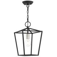 Livex 49432-04 Devonshire 1 Light 10 inch Black Convertible Semi Flush/Lantern Ceiling Light