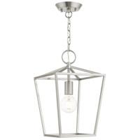 Livex 49432-91 Devonshire 1 Light 10 inch Brushed Nickel Convertible Semi Flush/Lantern Ceiling Light