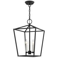 Livex 49433-04 Devonshire 3 Light 13 inch Black Convertible Semi Flush/Lantern Ceiling Light