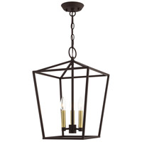 Livex 49433-07 Devonshire 3 Light 13 inch Bronze Convertible Semi Flush/Lantern Ceiling Light