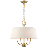 Livex 49444-01 Cartwright 4 Light 18 inch Antique Brass Pendant Chandelier Ceiling Light