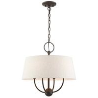 Livex 49444-92 Cartwright 4 Light 18 inch English Bronze Pendant Chandelier Ceiling Light