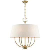 Livex 49446-01 Cartwright 6 Light 24 inch Antique Brass Pendant Chandelier Ceiling Light