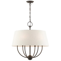 Livex 49446-92 Cartwright 6 Light 24 inch English Bronze Pendant Chandelier Ceiling Light