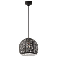 Livex 49542-04 Chantily 1 Light 12 inch Black with Brushed Nickel Accents Pendant Ceiling Light alternative photo thumbnail