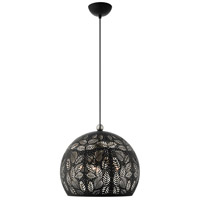 Livex 49543-04 Chantily 3 Light 16 inch Black with Brushed Nickel Accents Pendant Ceiling Light