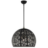 Livex 49544-04 Chantily 3 Light 20 inch Black with Brushed Nickel Accents Pendant Ceiling Light