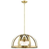 Livex 49645-01 Stoneridge 5 Light 24 inch Antique Brass Pendant Chandelier Ceiling Light
