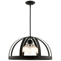 Livex Lighting 49645-14 Stoneridge 5 Light 24 inch Textured Black Pendant Chandelier Ceiling Light